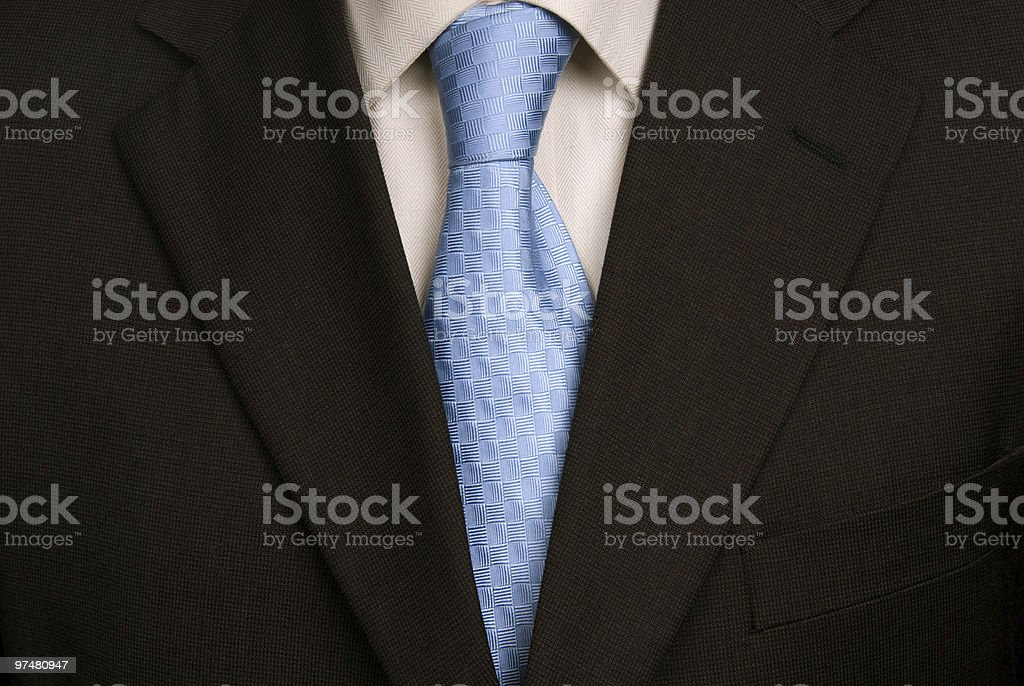 blue tie stock photo