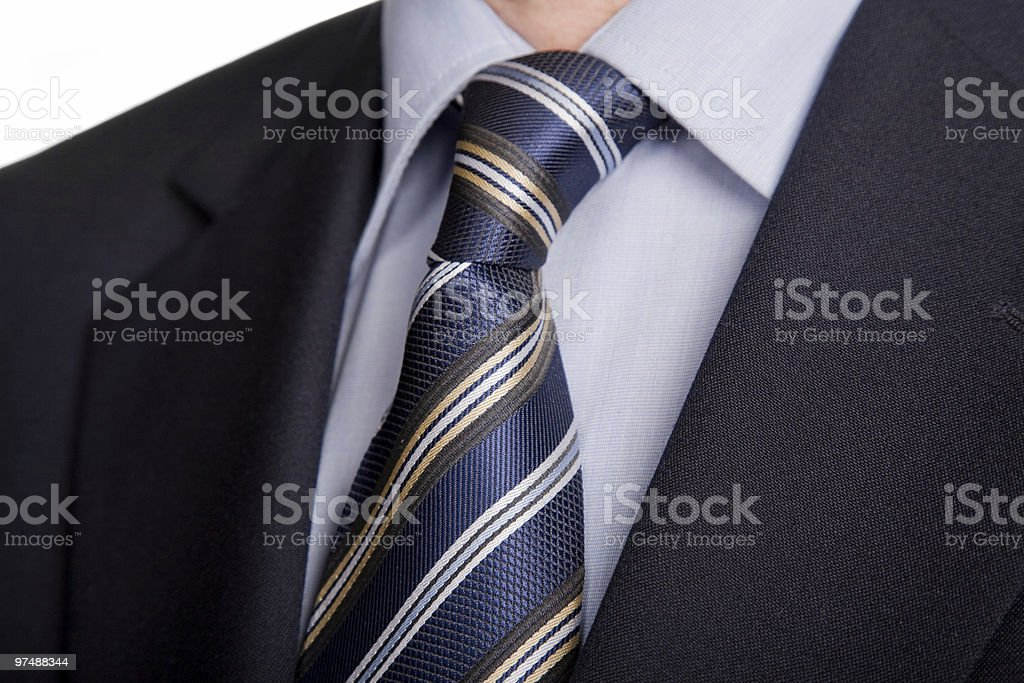 blue tie royalty-free stock photo