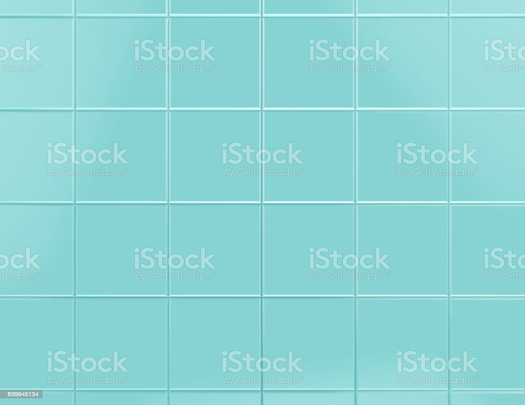 Blue tile background 3d render - foto de stock