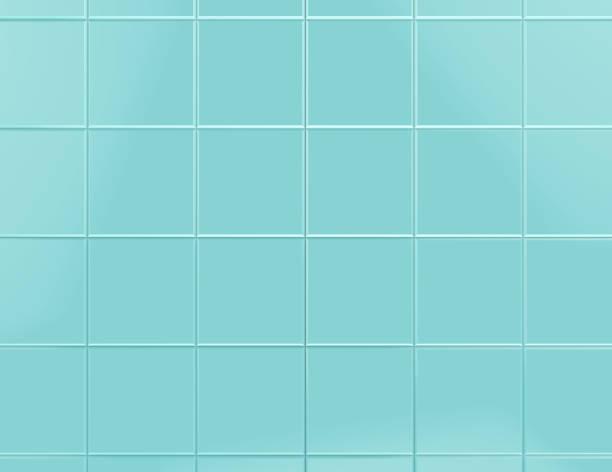 Blue tile background 3d render stock photo