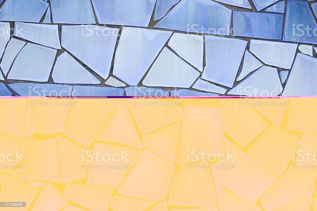 Blue Tile Mosaic (Background) royalty-free stock photo