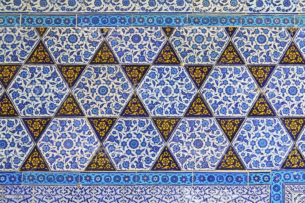 Blue Tile royalty-free stock photo