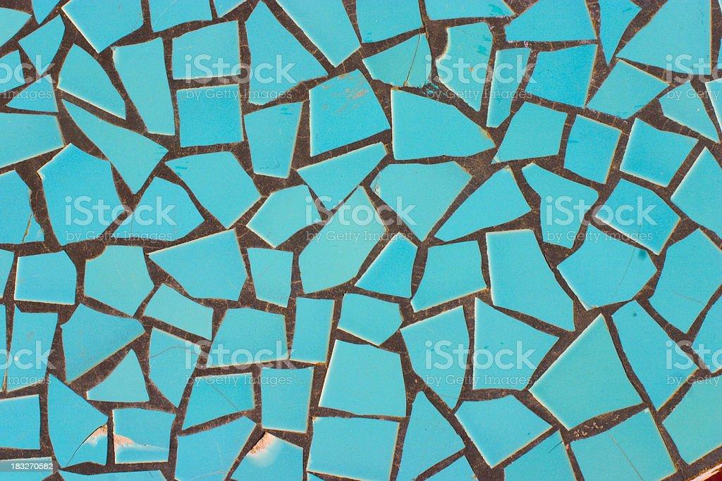 Blue tile stock photo
