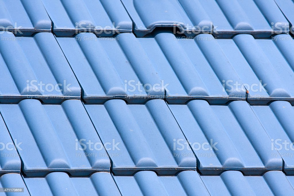 blue tiled roof royalty-free stock photo