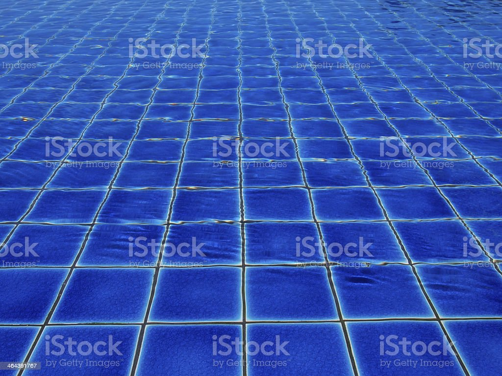 blue tiles in swimming royalty-free stock photo