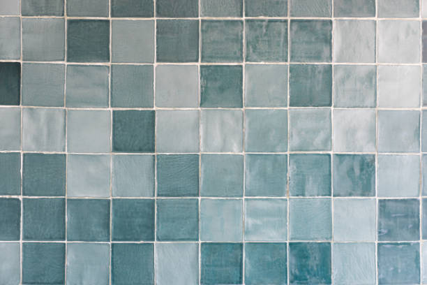 Blue tiles pattern stock photo