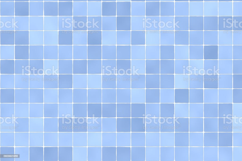 Blue tiles wall background stock photo