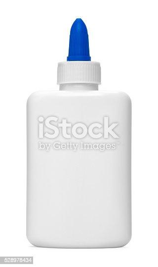 istock Blue Tip Glue Bottle 528978434
