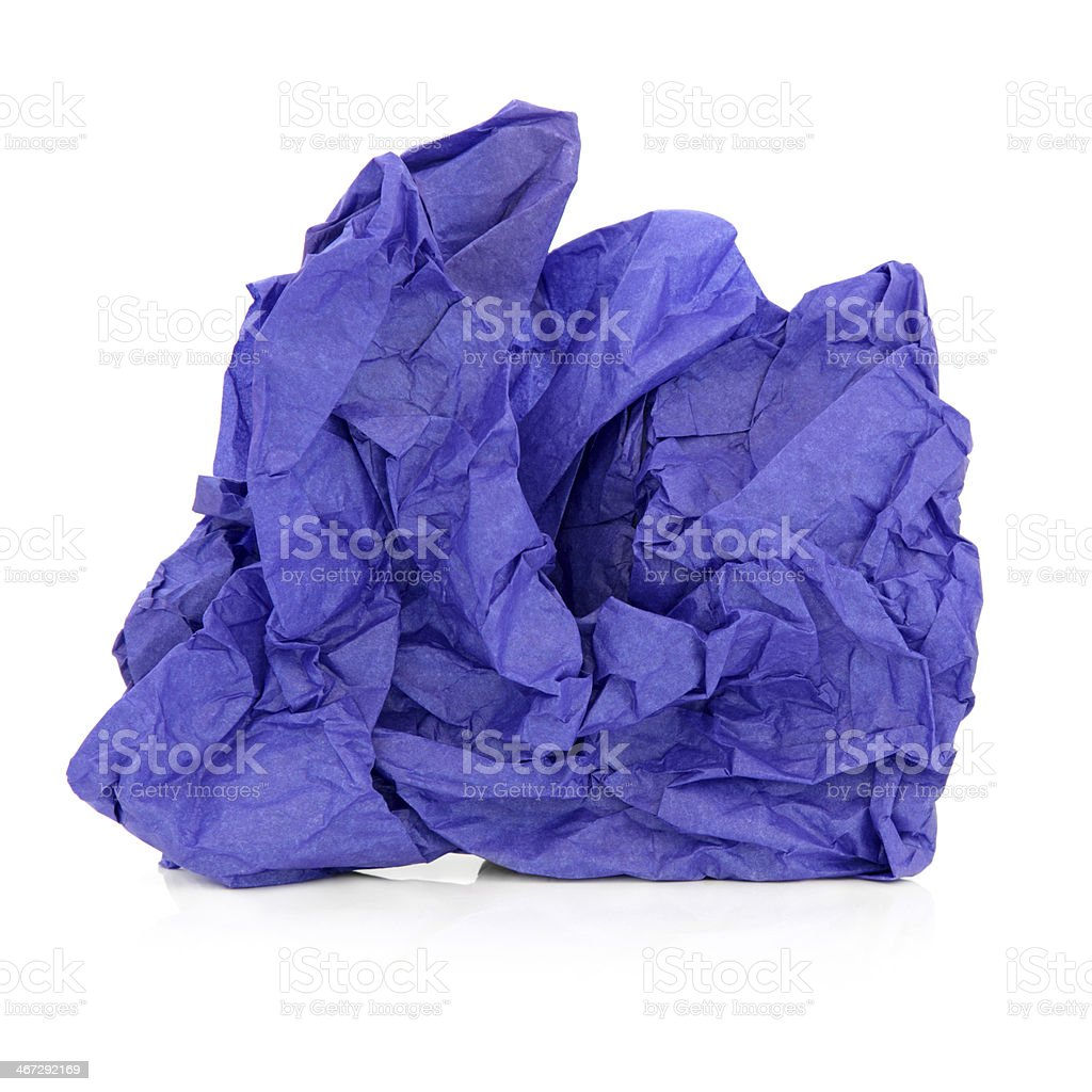 Blue Tissue Paper stock photo