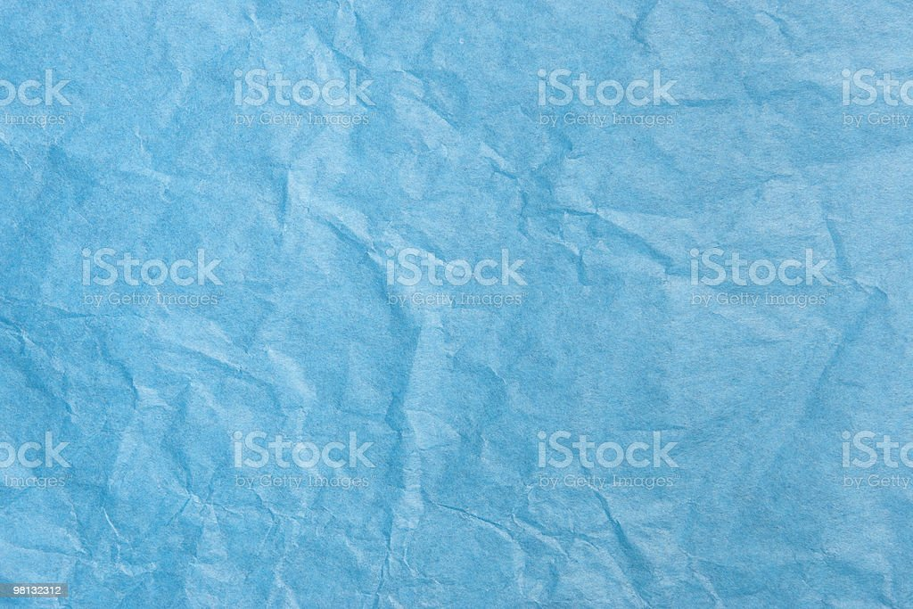 Blue Tissue Paper Texture royalty-free stock photo
