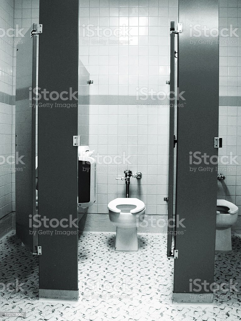 blue tone toilet royalty-free stock photo