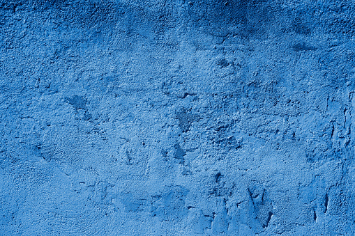 Blue Toned Textured Grundgy Concrete Stucco Wall
