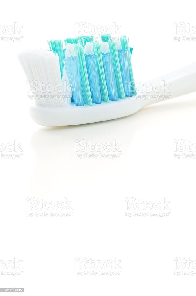 Blue toothbrush stock photo