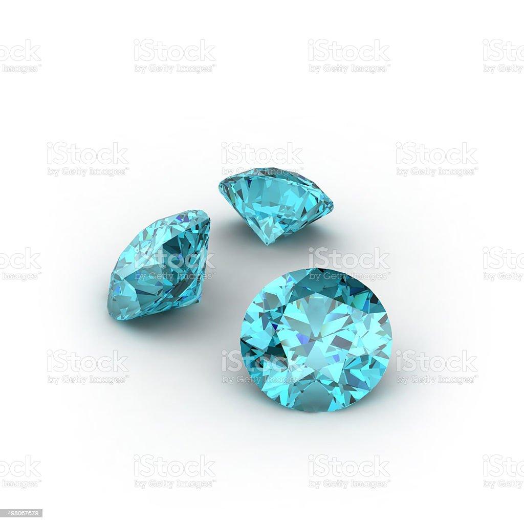 Blue Topaz stock photo