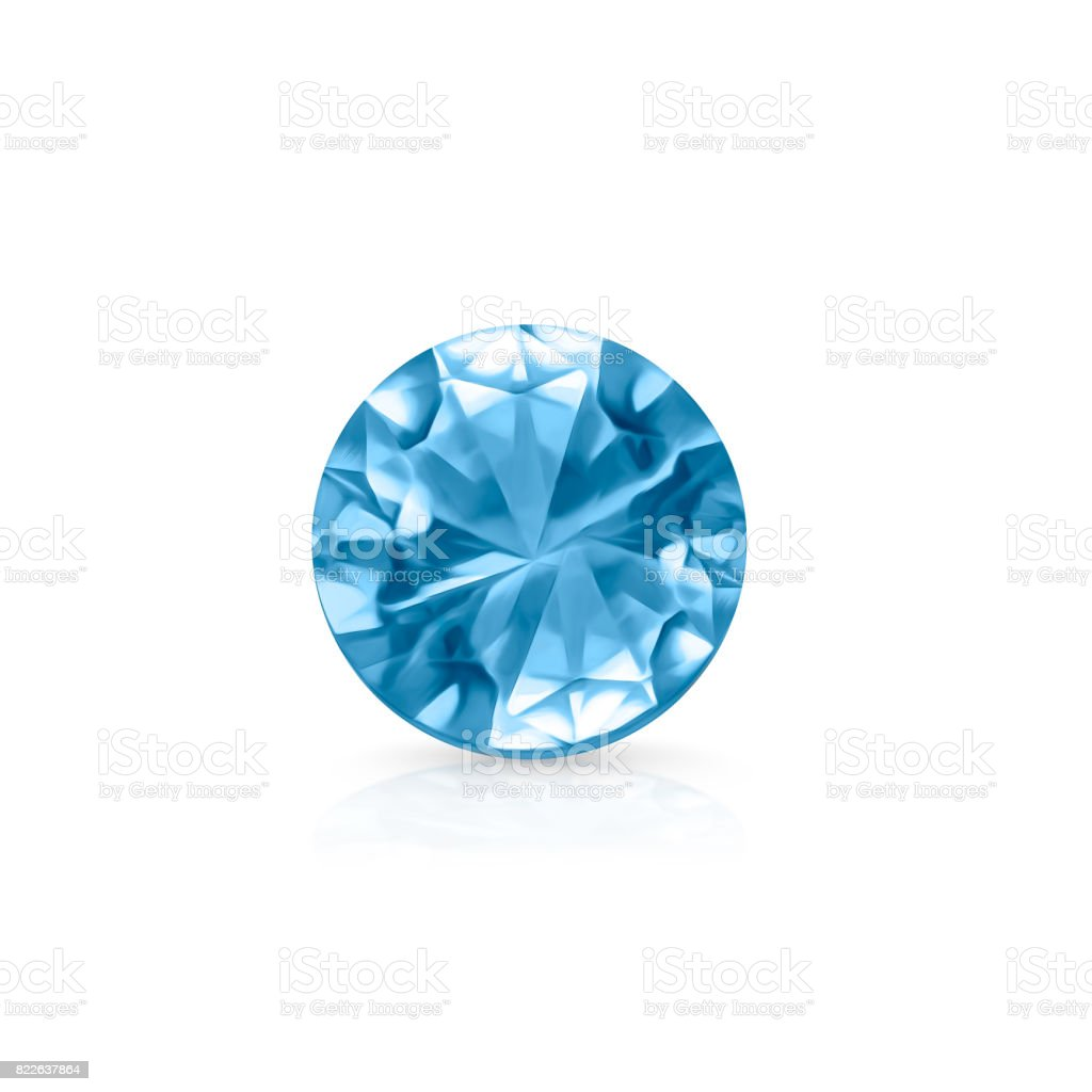 Blue topaz stock photo