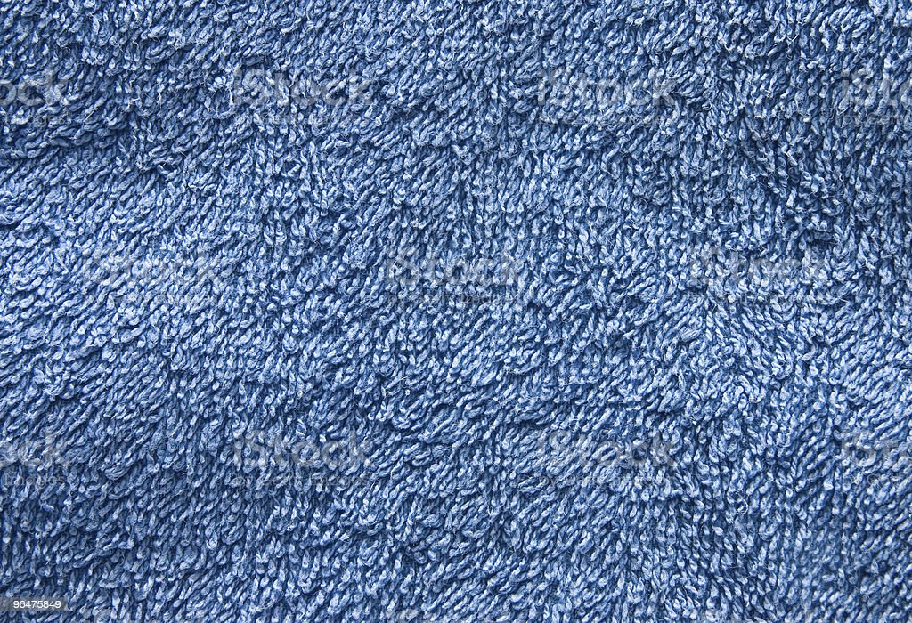 Blue towel detailed texture royalty-free stock photo