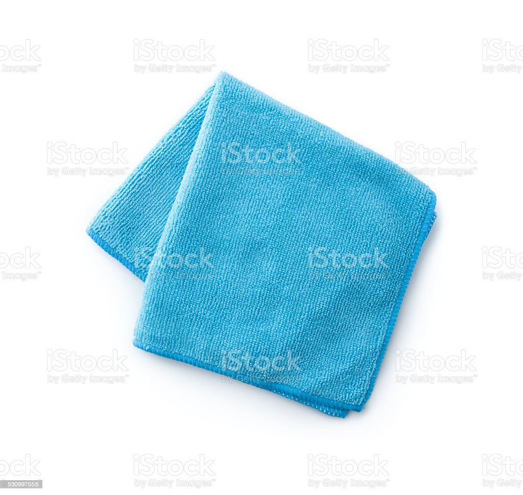 Blue towel stock photo