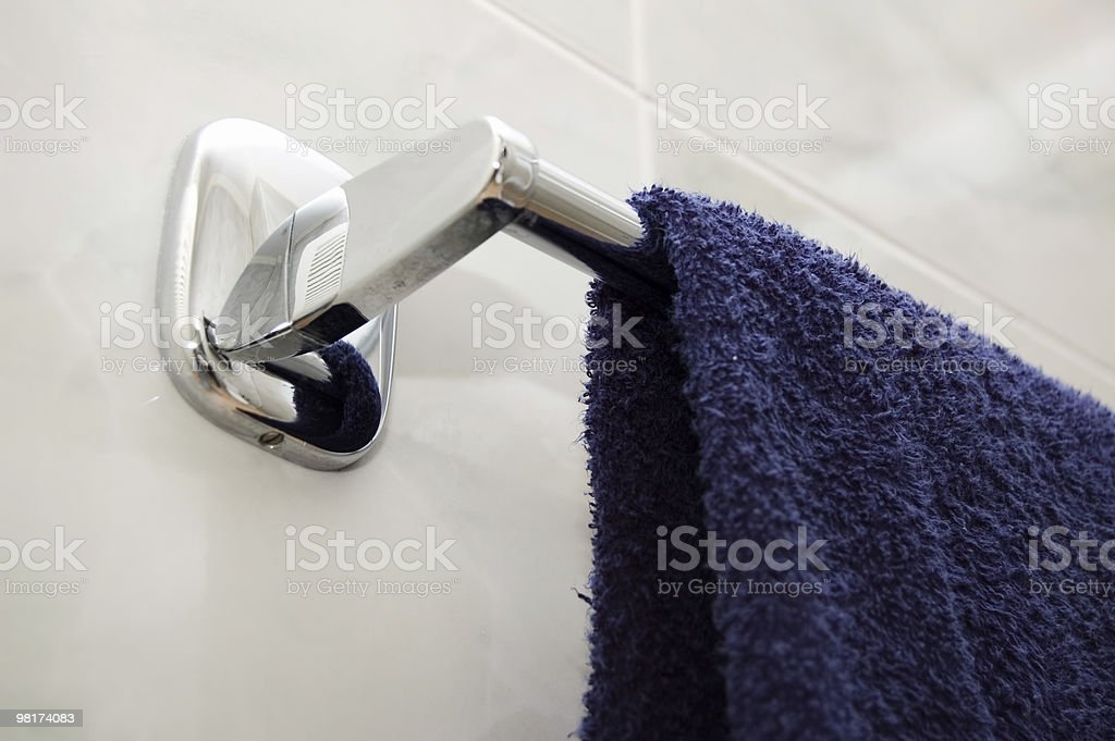 Blue Towel royalty-free stock photo