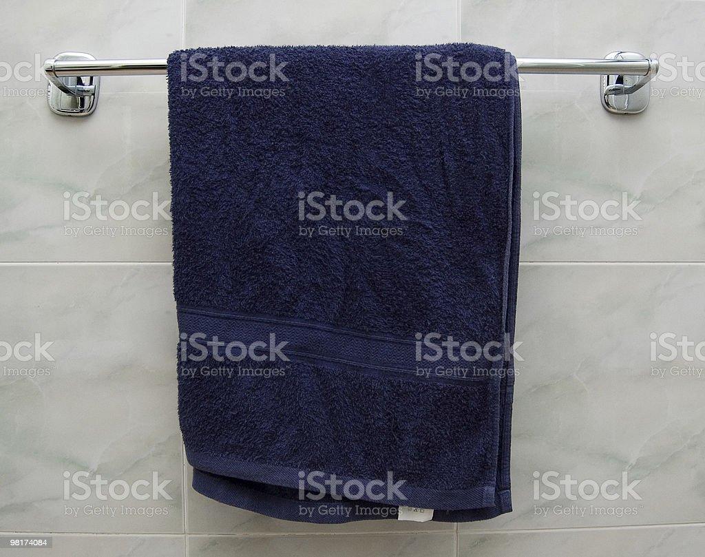 파란색 타월에 royalty-free 스톡 사진