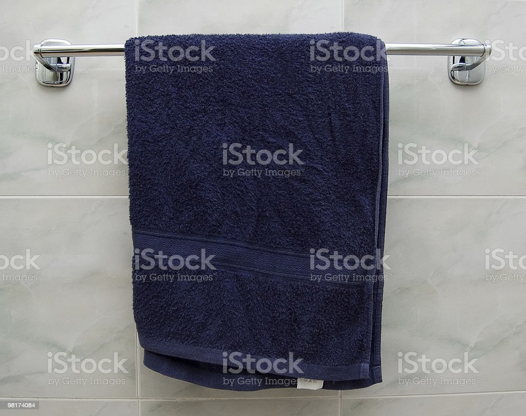 Blue Towel royalty-free stock photo
