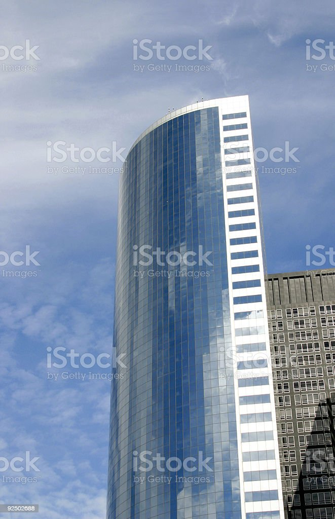Blue tower royalty-free stock photo