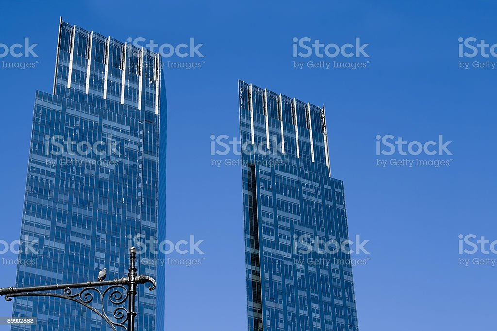 Blu towers foto stock royalty-free