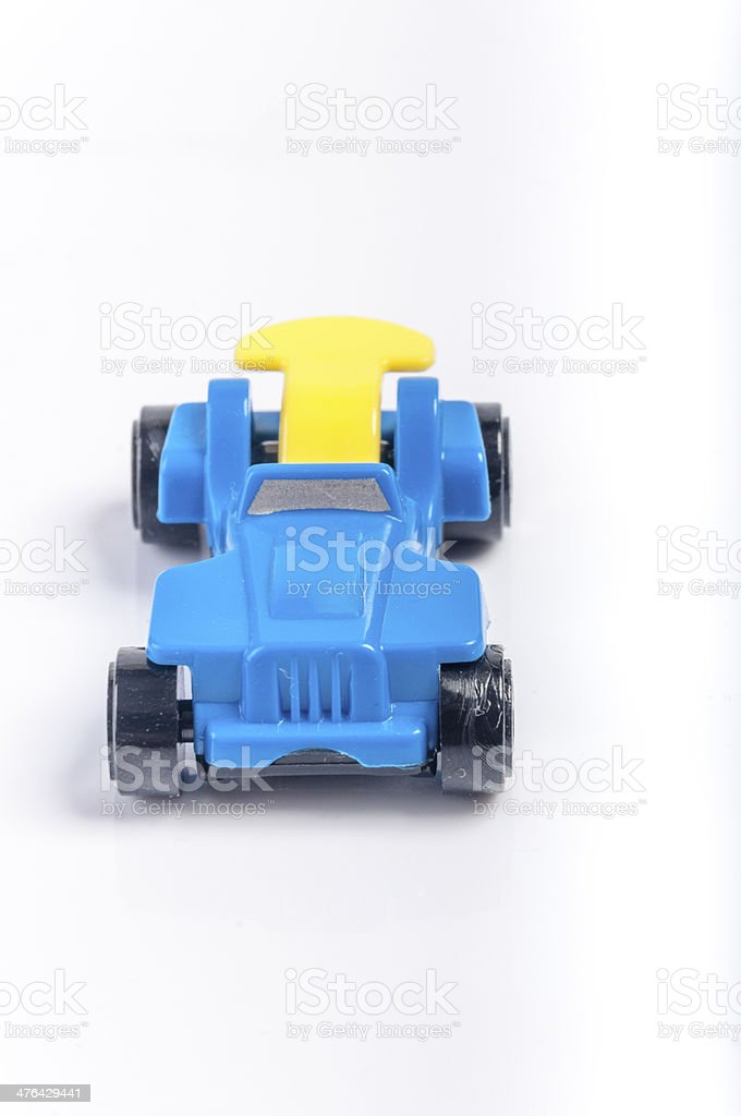 Blue toy car royalty-free stock photo