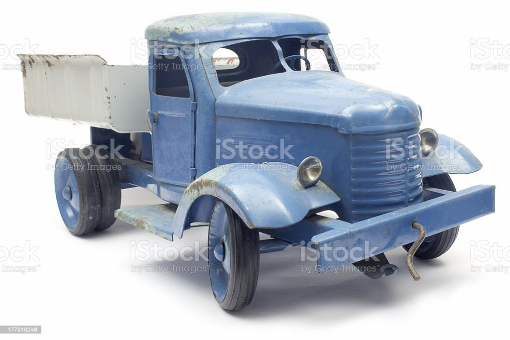 Blue Toy Truck stock photo