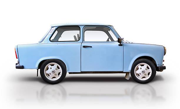 blue trabant - oost duitsland stockfoto's en -beelden