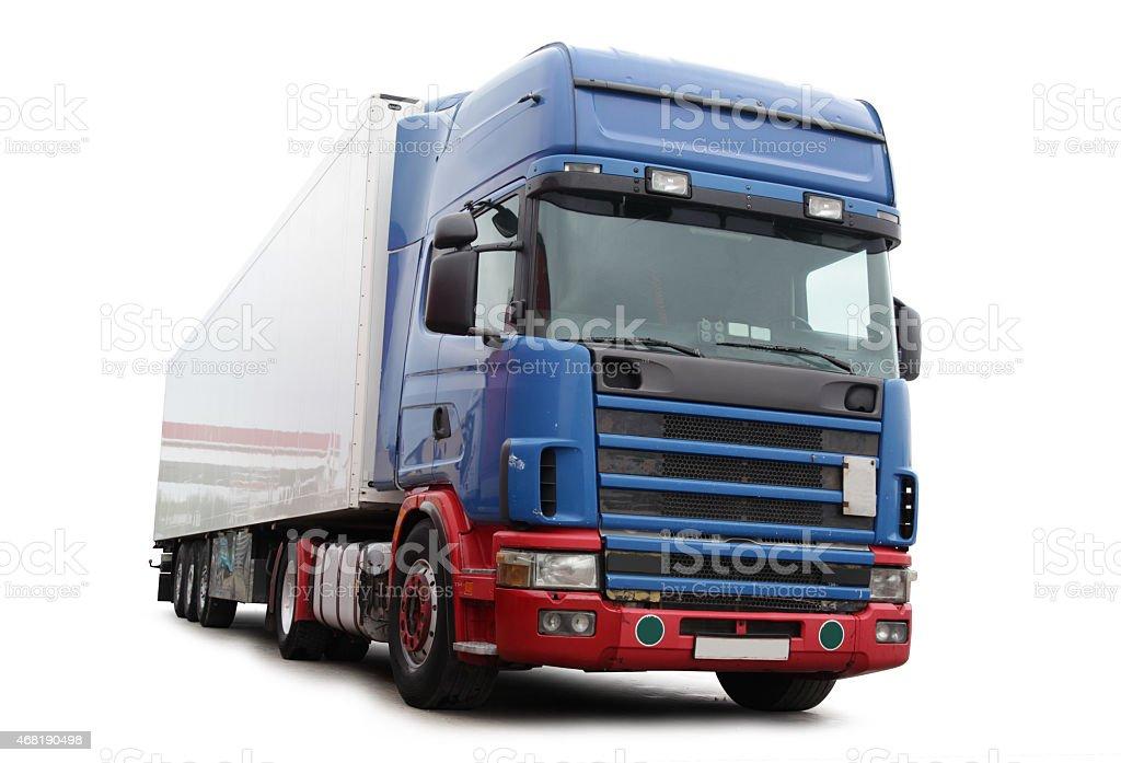 Blue Transport Vehicle stock photo