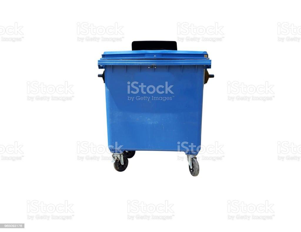 Blue trash color on white zbiór zdjęć royalty-free