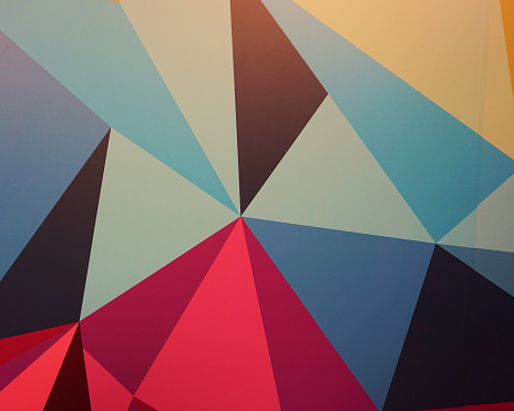 Abstracted blue triangles background