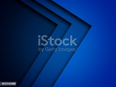 istock Blue triangle background with overlap paper layer gradient color with space for text and message artwork design 842440466