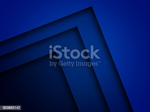 istock Blue triangle background with overlap paper layer gradient color with space for text and message artwork design 933863142
