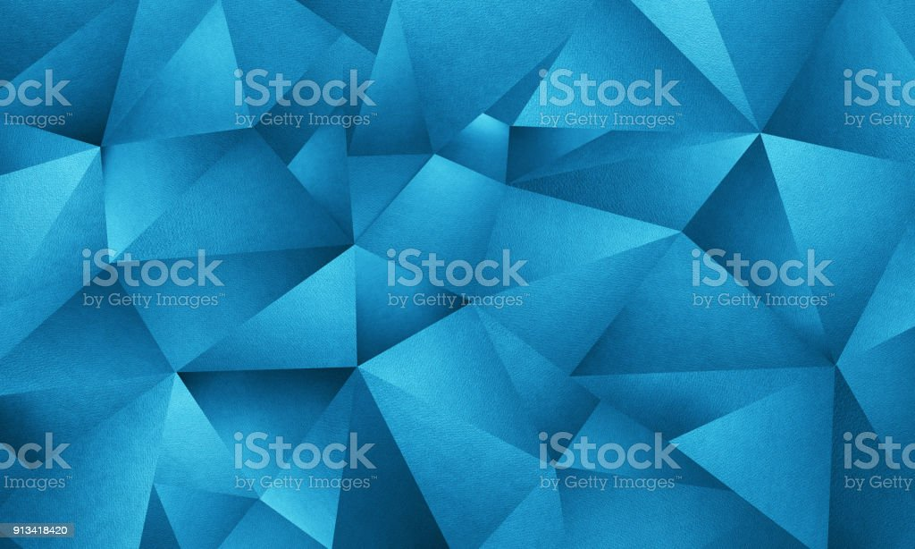 Blue Triangle Geometric Background stock photo
