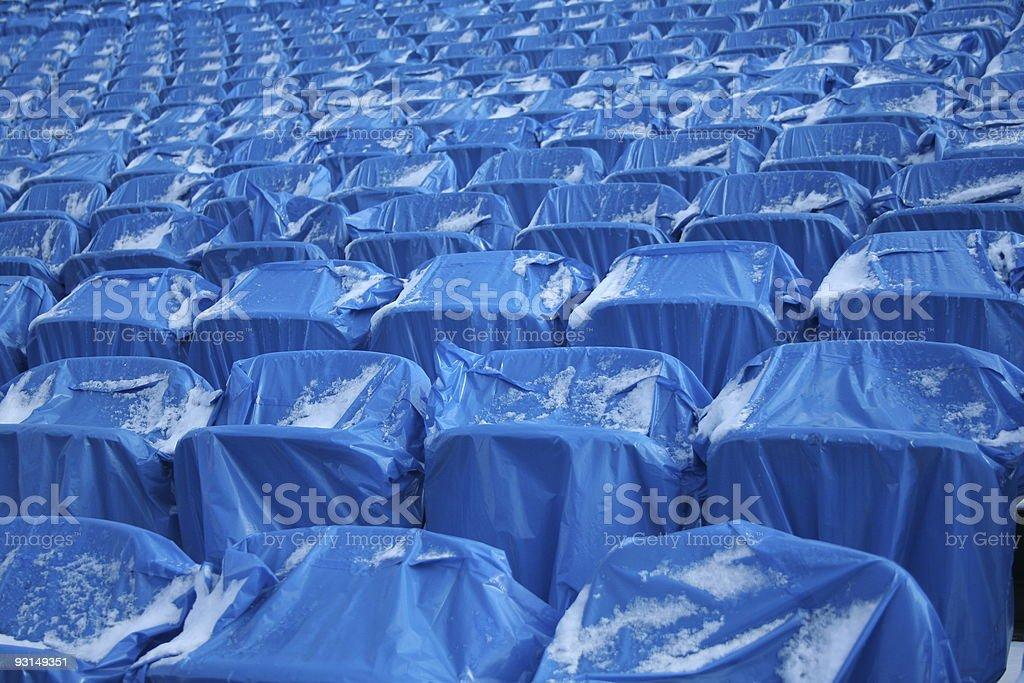 blue tribune royalty-free stock photo