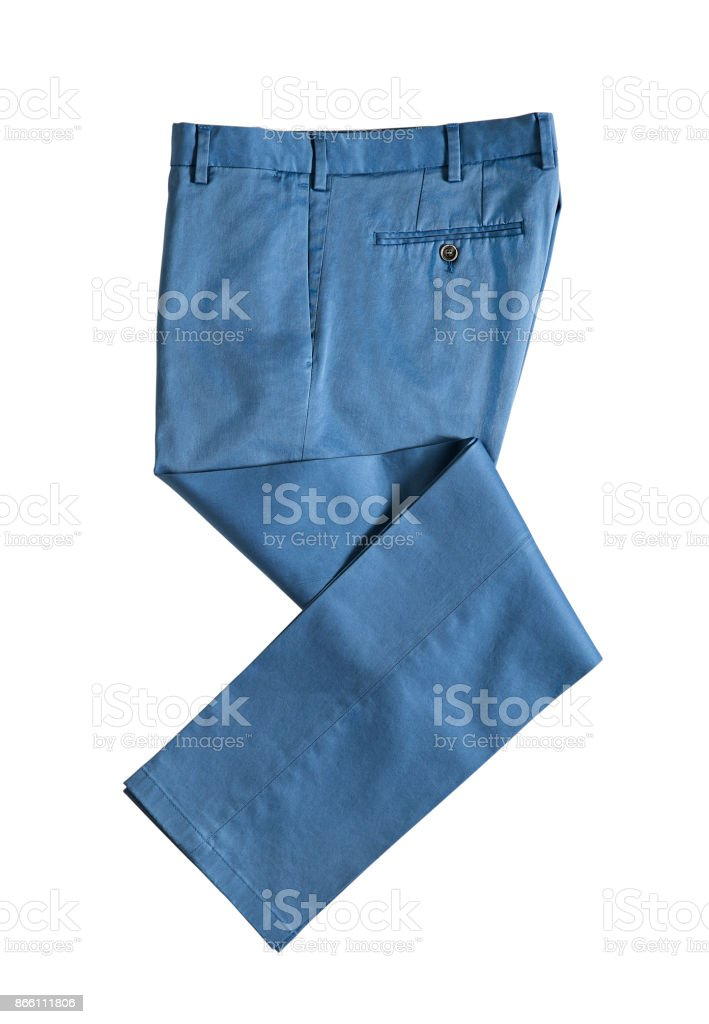 Blaue Hosen isoliert auf weißem Hintergrund – Foto