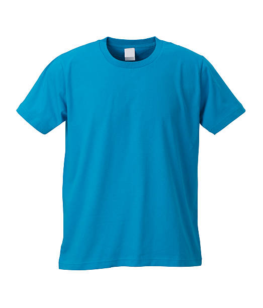 Blue T-shirt /clipping path stock photo