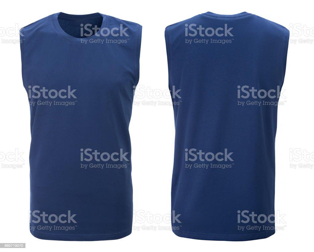 藍色的 t 恤,衣服。 免版稅 stock photo