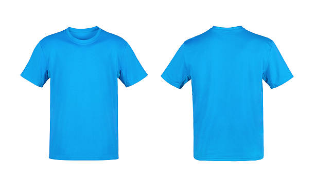blue t-shirt isolated on white background - t shirt stock pictures, royalty-free photos & images