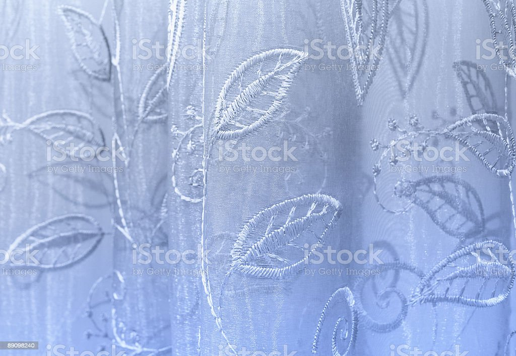 Blue tulle-background royalty-free stock photo