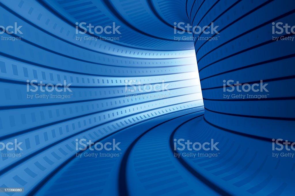 Blue Tunnel Horizontal royalty-free stock photo
