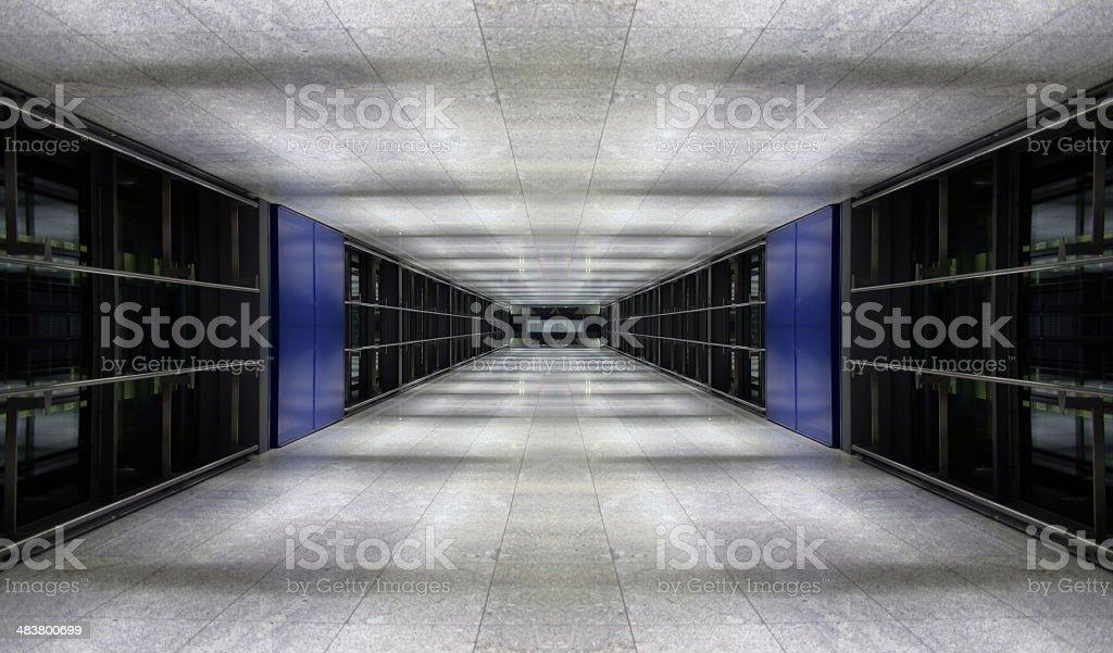 Blue tunnel (symmetric) royalty-free stock photo
