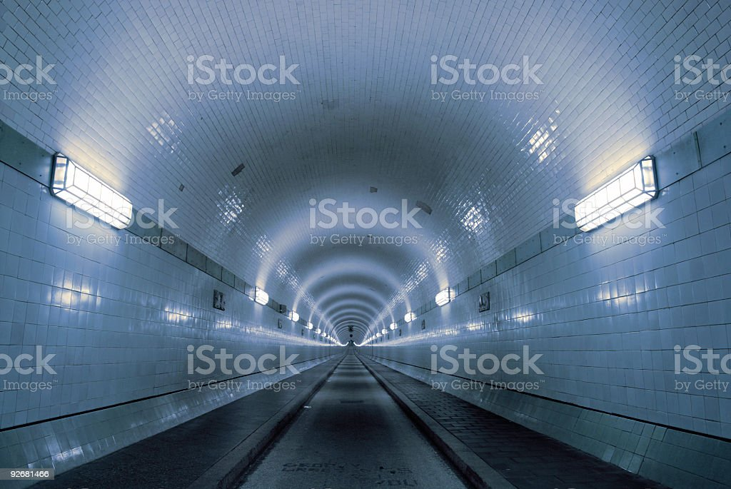 Blue tunnel royalty-free stock photo