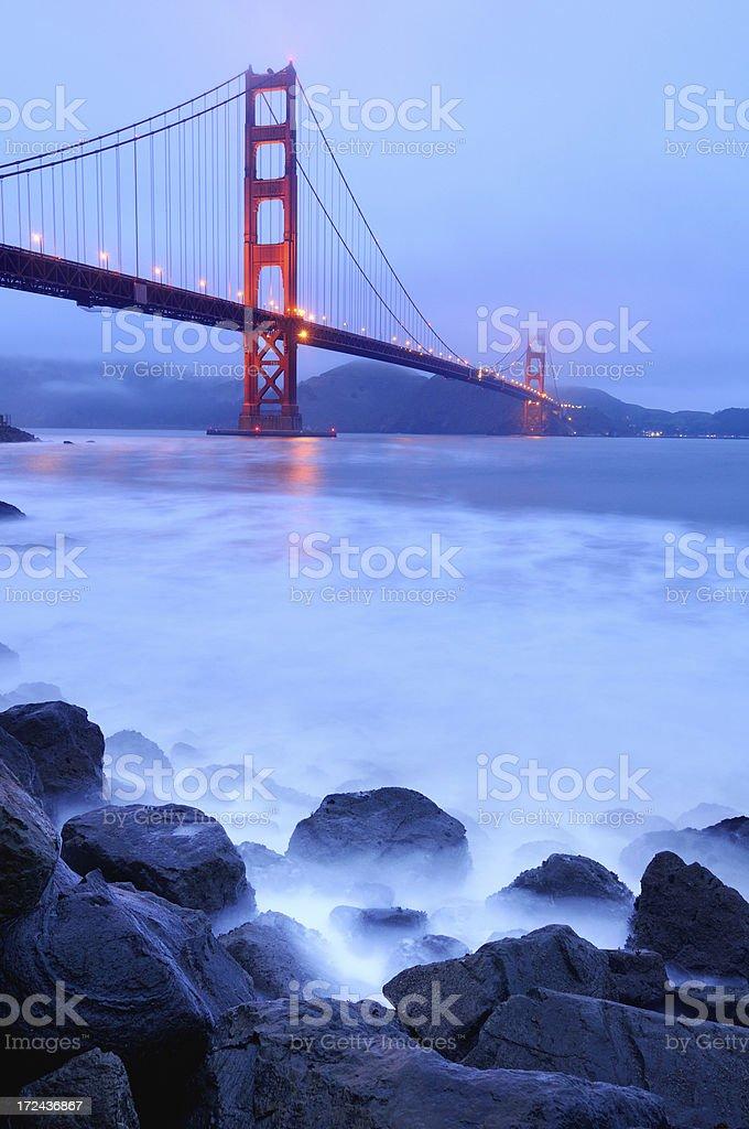 Blue twilight landscape with Golden Gate Bridge, San Francisco, USA royalty-free stock photo