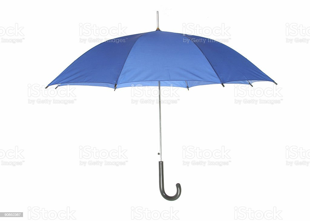 blue umbrella 1 royalty-free stock photo