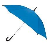 Blue Umbrella Isolated on White Background.