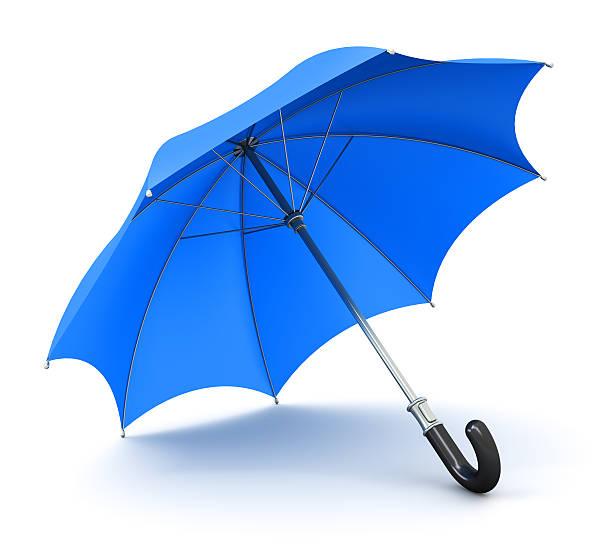 blue umbrella or parasol - umbrellas stock photos and pictures