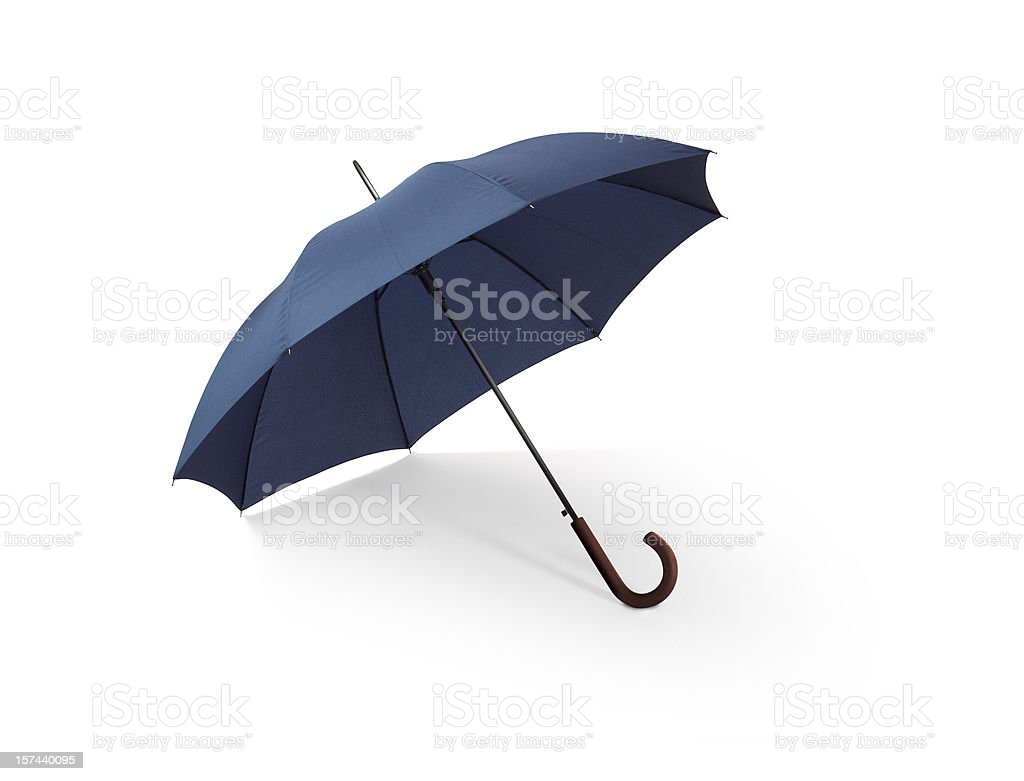 Blue Umbrella w/Clipping Path stock photo
