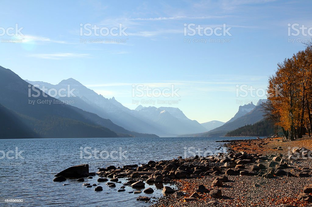 Blue Valley Lake stock photo